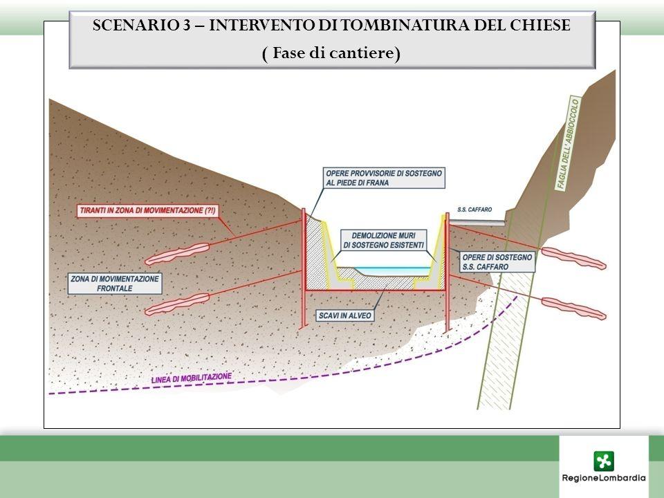SCENARIO 3 – INTERVENTO DI TOMBINATURA DEL CHIESE ( Fase di cantiere)