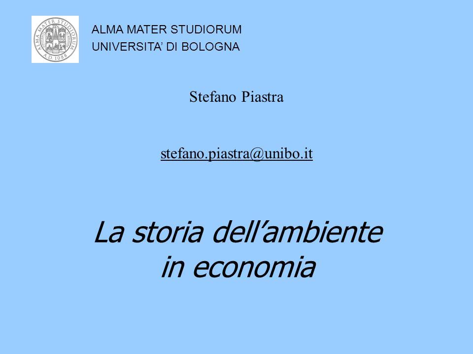 La storia dellambiente in economia ALMA MATER STUDIORUM UNIVERSITA DI BOLOGNA Stefano Piastra stefano.piastra@unibo.it