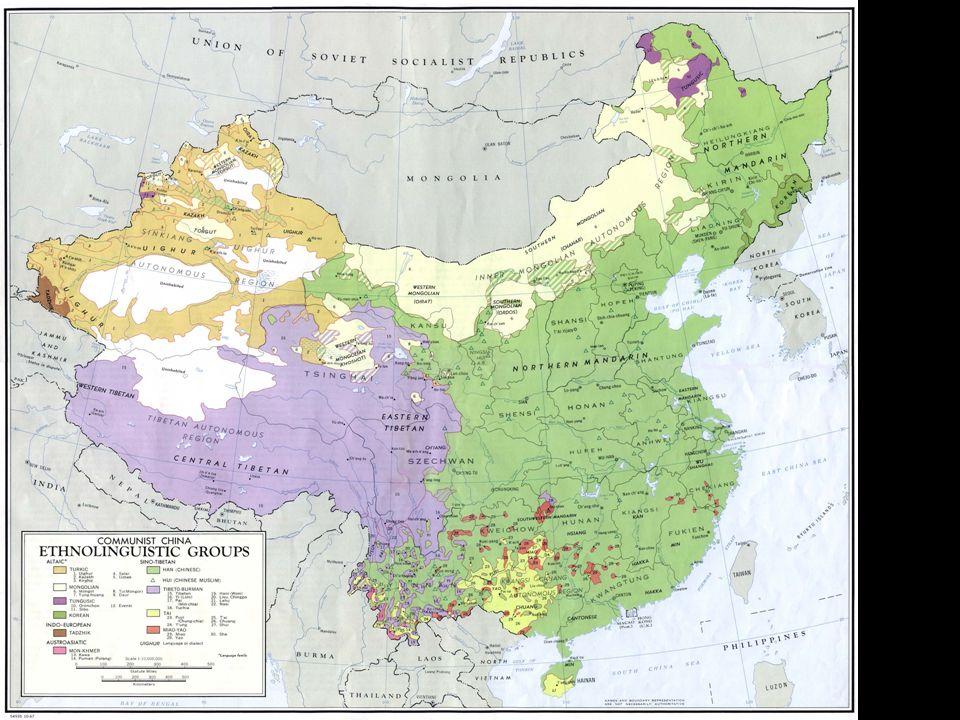 In verde la diffusione degli Han