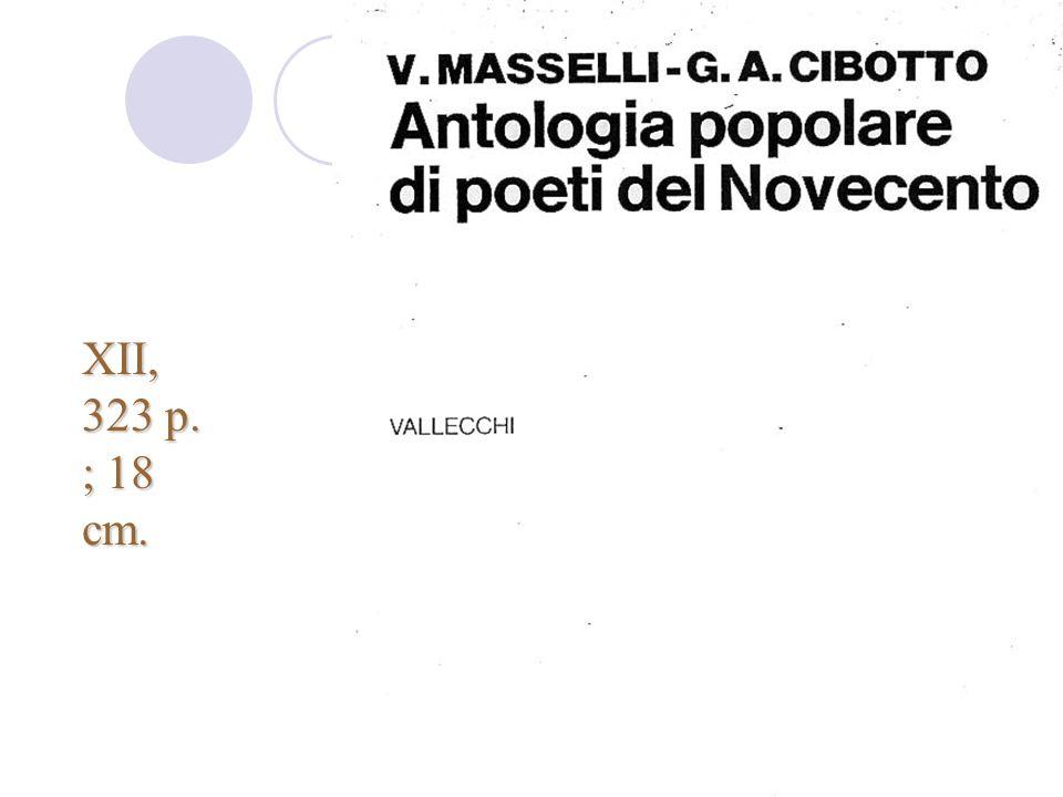 Corso Rica - nov-dic 2007 XII, 323 p. ; 18 cm.