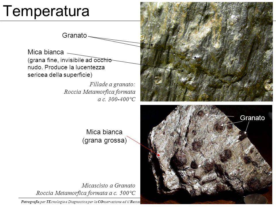 Petrografia per TEcnologie e Diagnostica per la COnservazione ed il Restauro dei BB. CC. - AA 2012-13 Roberto Braga - r.braga@unibo.it 10 Granato Mica
