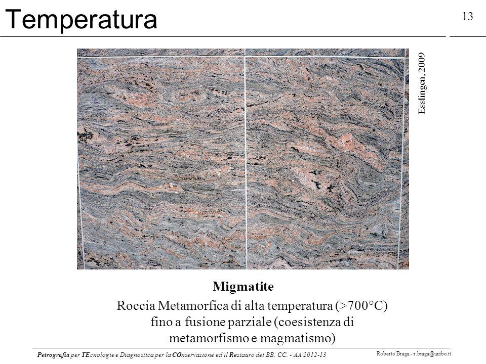 Petrografia per TEcnologie e Diagnostica per la COnservazione ed il Restauro dei BB. CC. - AA 2012-13 Roberto Braga - r.braga@unibo.it 13 Migmatite Ro