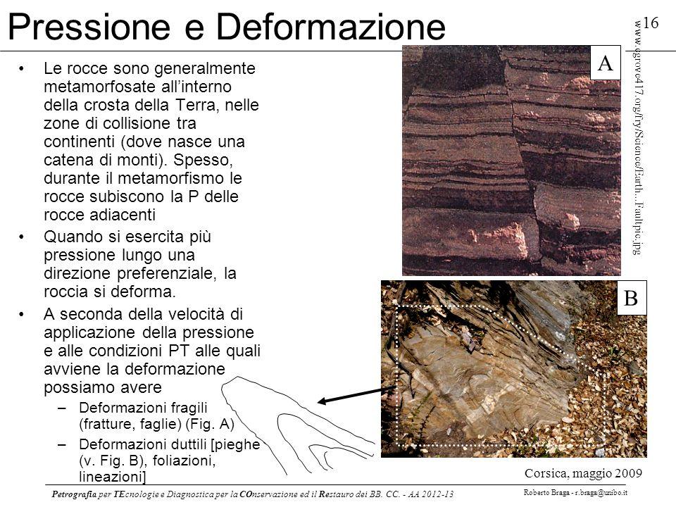 Petrografia per TEcnologie e Diagnostica per la COnservazione ed il Restauro dei BB. CC. - AA 2012-13 Roberto Braga - r.braga@unibo.it 16 www.cgrove41