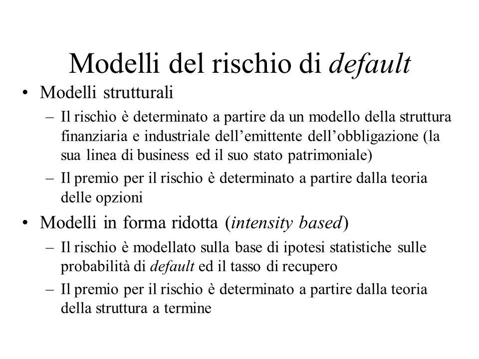 Modello di Merton Merton sviluppa nel tempo continuo le stesse idee che abbiamo mostrato in un modello discreto.
