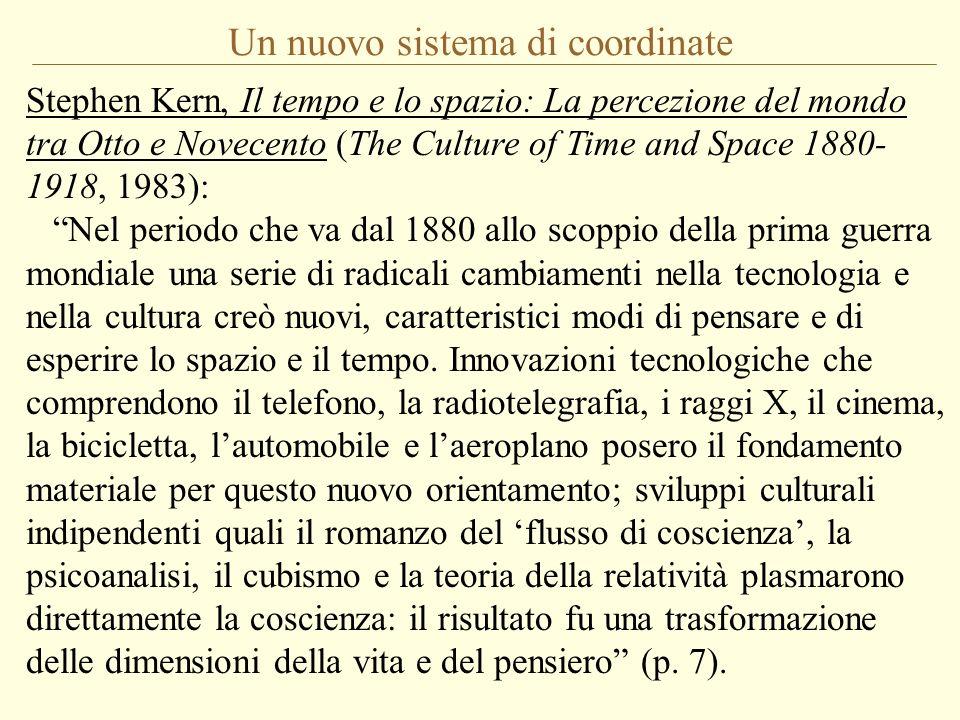 Un nuovo sistema di coordinate Stephen Kern, Il tempo e lo spazio: La percezione del mondo tra Otto e Novecento (The Culture of Time and Space 1880- 1