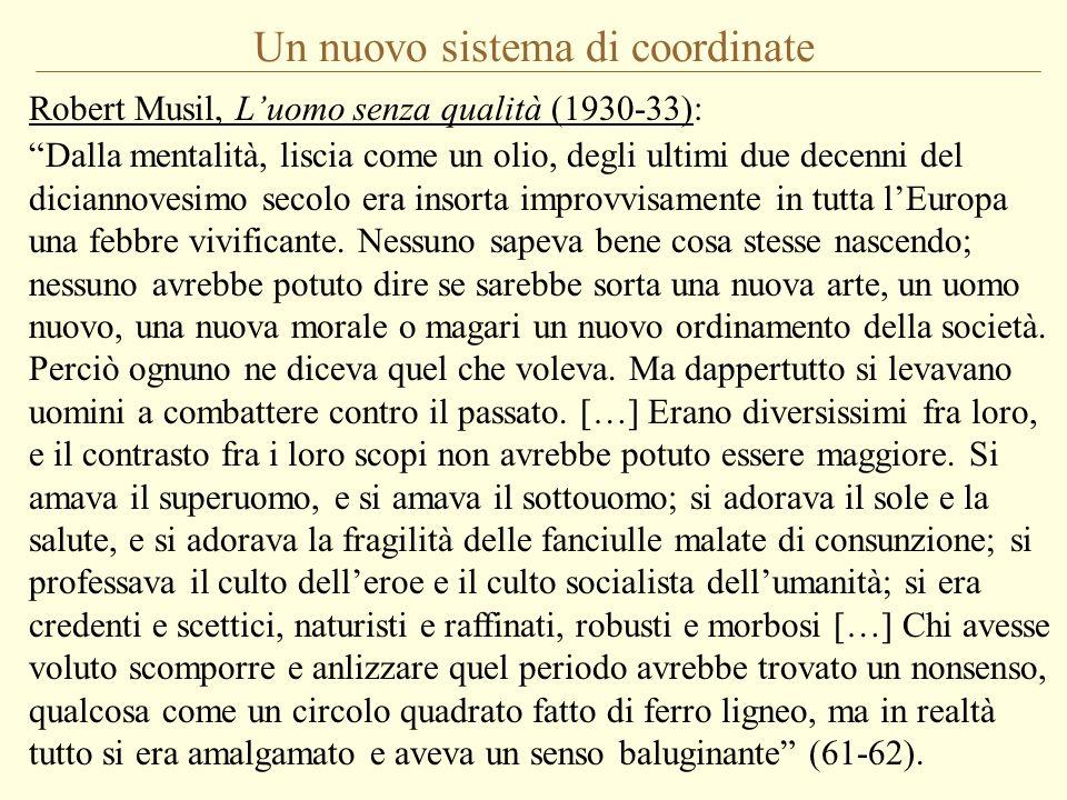Un nuovo sistema di coordinate Robert Musil, Luomo senza qualità (1930-33): Dalla mentalità, liscia come un olio, degli ultimi due decenni del diciann