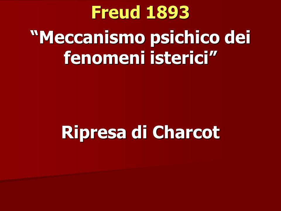 Freud 1893 Meccanismo psichico dei fenomeni isterici Ripresa di Charcot
