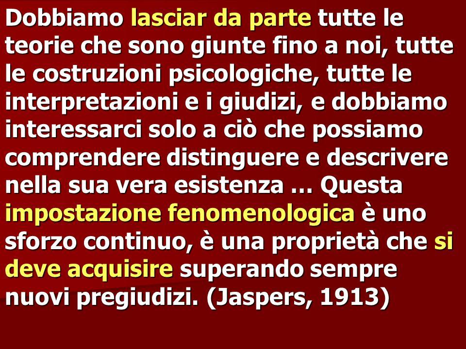 Dobbiamo lasciar da parte tutte le teorie che sono giunte fino a noi, tutte le costruzioni psicologiche, tutte le interpretazioni e i giudizi, e dobbi