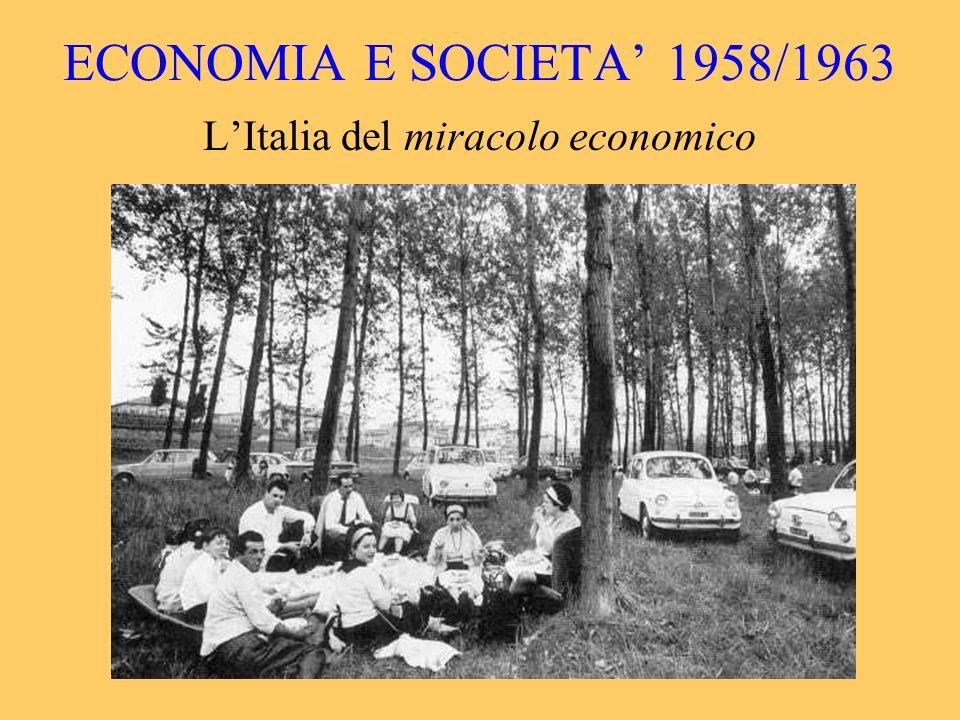 ECONOMIA E SOCIETA 1958/1963 LItalia del miracolo economico
