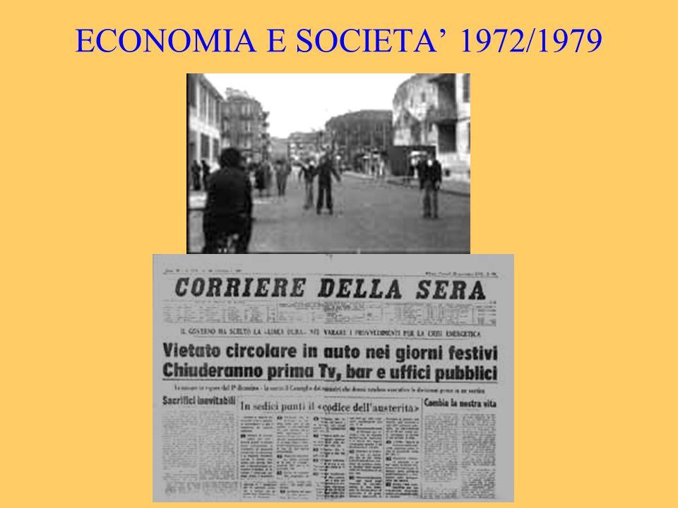 ECONOMIA E SOCIETA 1972/1979