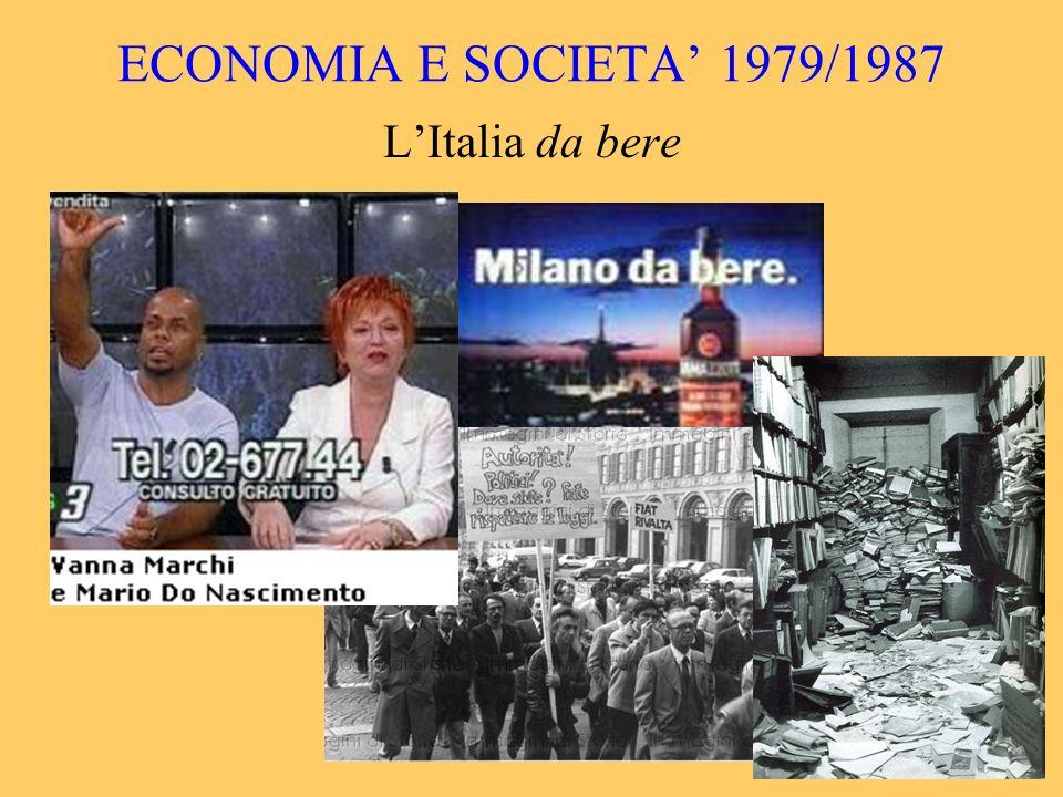 ECONOMIA E SOCIETA 1979/1987 LItalia da bere