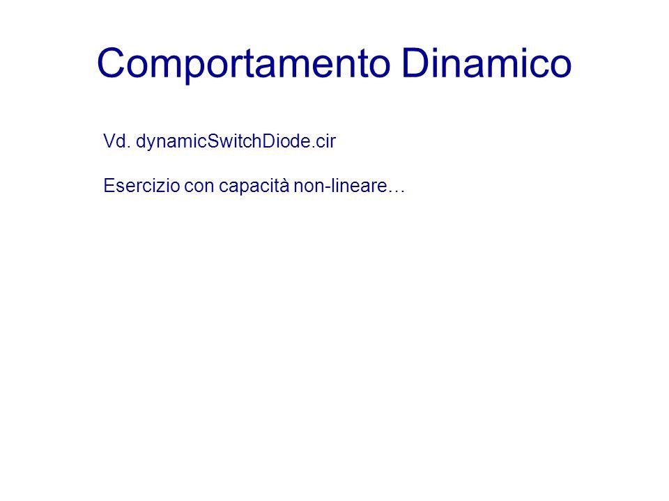Comportamento Dinamico Vd. dynamicSwitchDiode.cir Esercizio con capacità non-lineare…