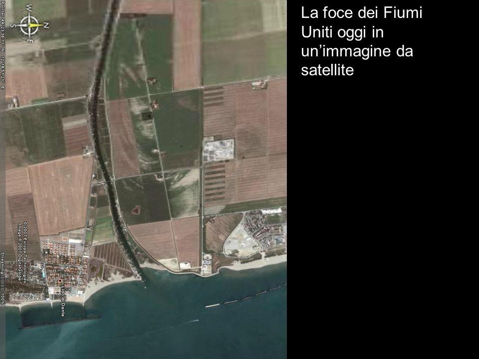 La foce dei Fiumi Uniti oggi in unimmagine da satellite