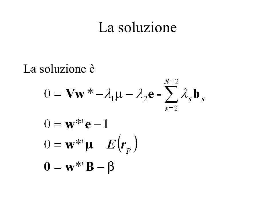 La soluzione La soluzione è