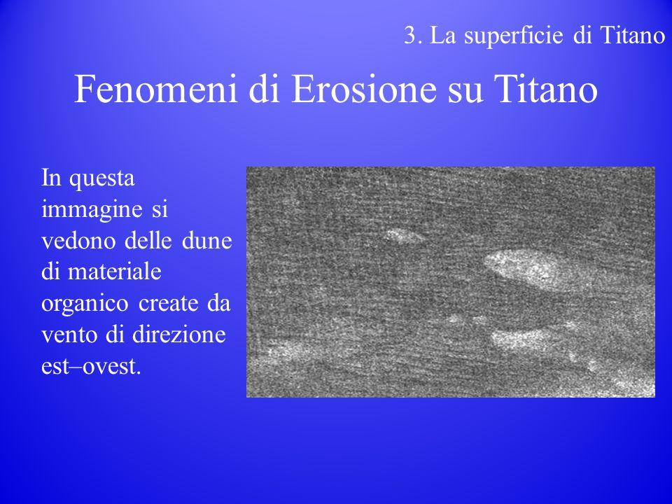 In questa immagine si vedono delle dune di materiale organico create da vento di direzione est–ovest.