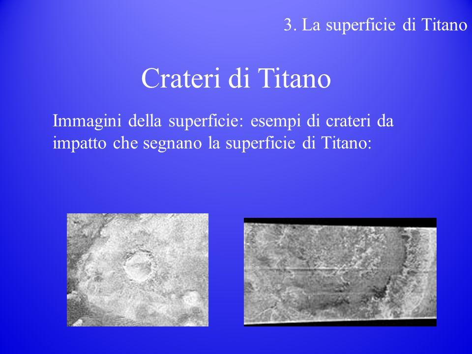 Immagini della superficie: esempi di crateri da impatto che segnano la superficie di Titano: 3.