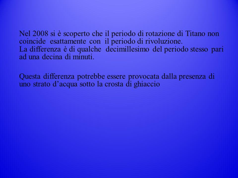 Nel 2008 si è scoperto che il periodo di rotazione di Titano non coincide esattamente con il periodo di rivoluzione.