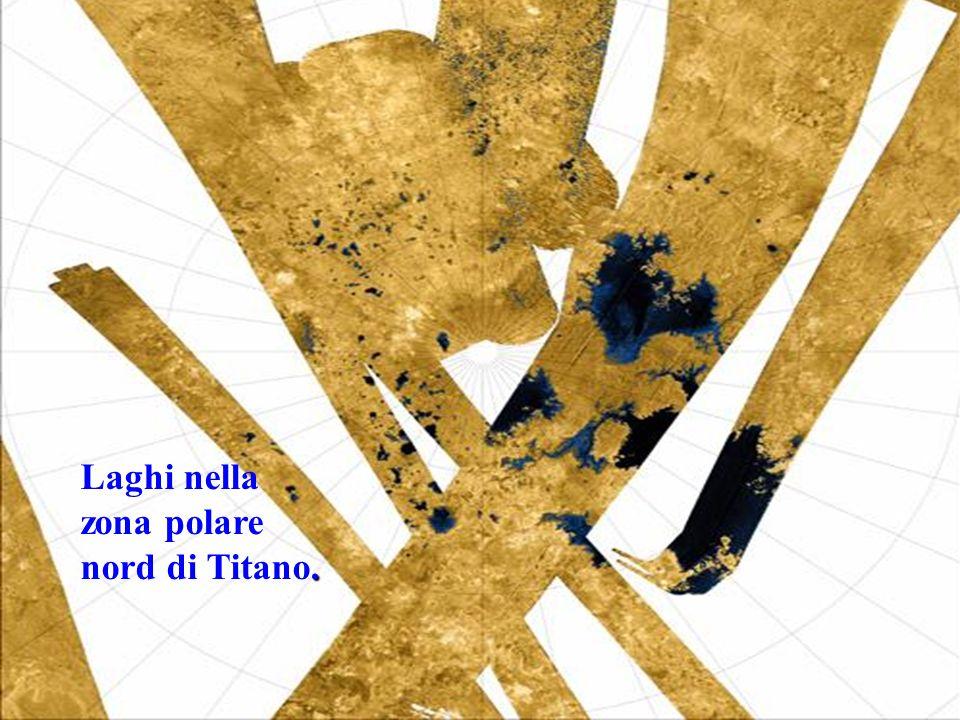 . Laghi nella zona polare nord di Titano.