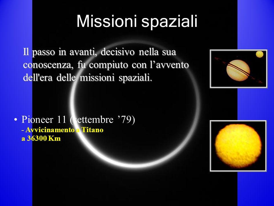 Missioni spaziali Il passo in avanti, decisivo nella sua conoscenza, fu compiuto con lavvento dell era delle missioni spaziali.