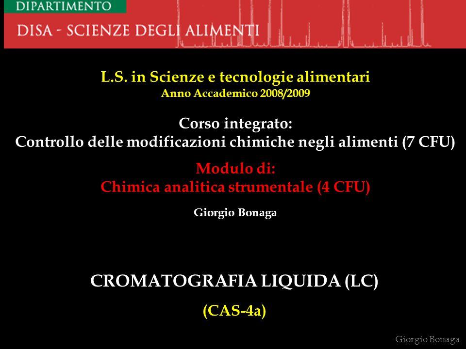 INIETTORE A VALVOLA a) CARICAMENTO (4-3/1-2-5-6) scarico campione fase mobile sample loop Giorgio Bonaga scarico campione fase mobile sample loop b) INIEZIONE (1-6/4-5-2-3) colonna 1 2 4 5 3 6 5 4 3 2 6 1