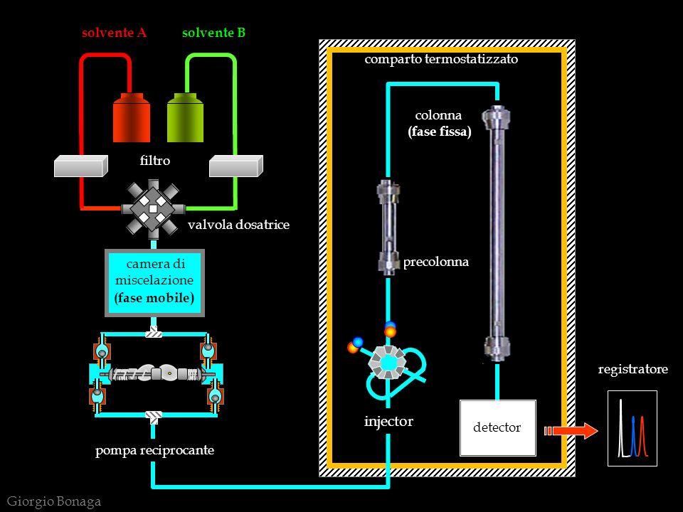 LE VARIABILI DELLA LC Nella cromatografia liquida, analogamente alle altre tecniche analitiche, si deve operare una scelta delle variabili del sistema, sulla base delle caratteristiche del campione da analizzare.