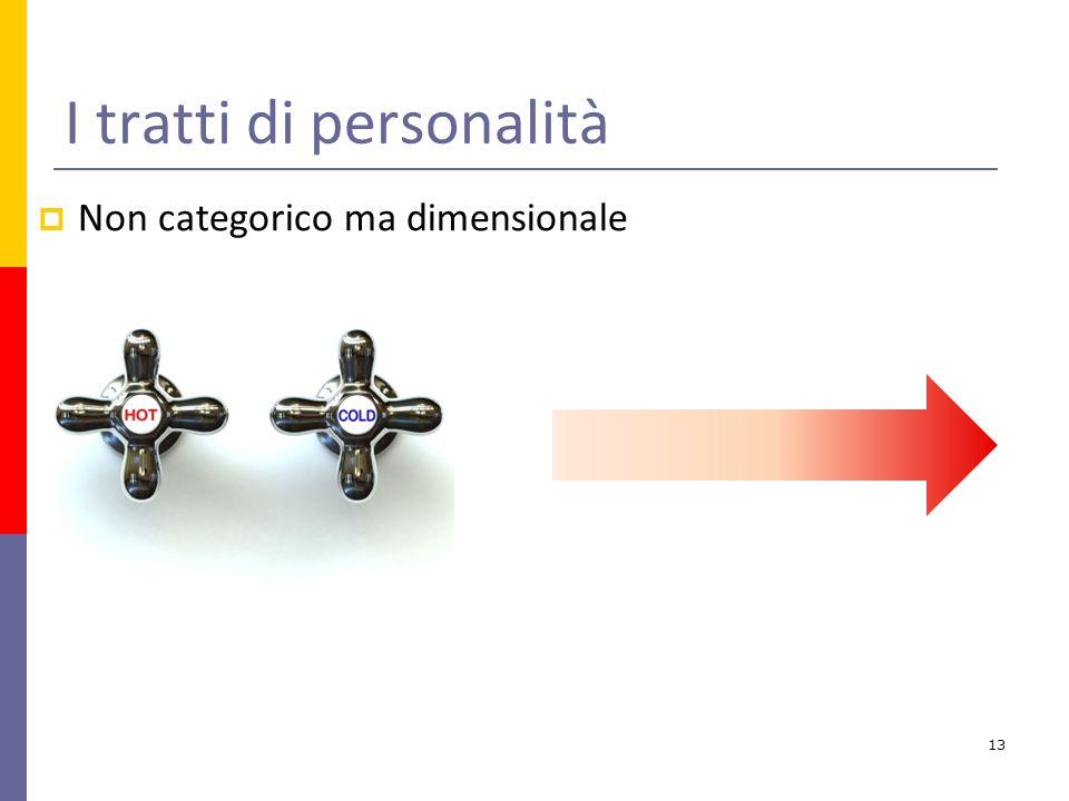 I tratti di personalità Non categorico ma dimensionale 13