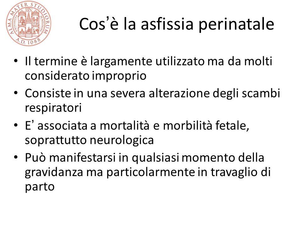 Cos è la asfissia perinatale Il termine è largamente utilizzato ma da molti considerato improprio Consiste in una severa alterazione degli scambi resp