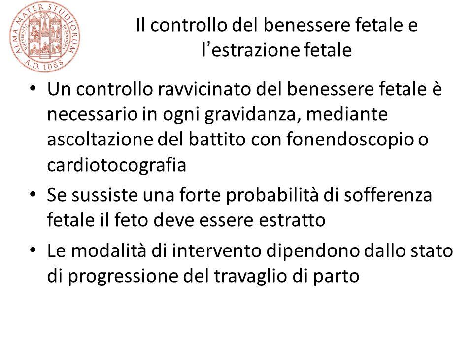 Il controllo del benessere fetale e l estrazione fetale Un controllo ravvicinato del benessere fetale è necessario in ogni gravidanza, mediante ascolt