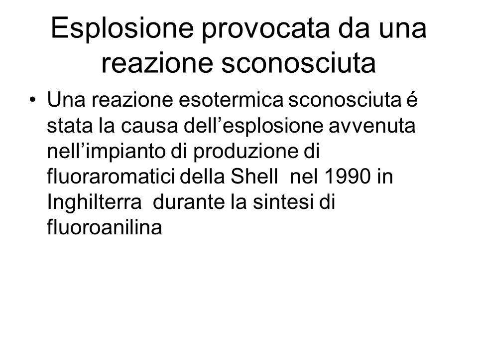 Esplosione provocata da una reazione sconosciuta Una reazione esotermica sconosciuta é stata la causa dellesplosione avvenuta nellimpianto di produzio