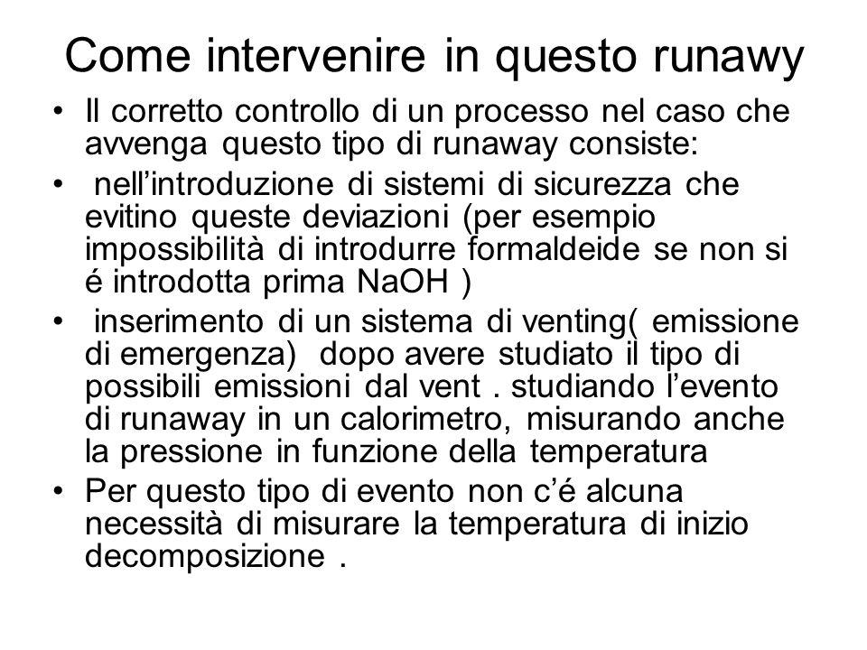 Come intervenire in questo runawy Il corretto controllo di un processo nel caso che avvenga questo tipo di runaway consiste: nellintroduzione di siste