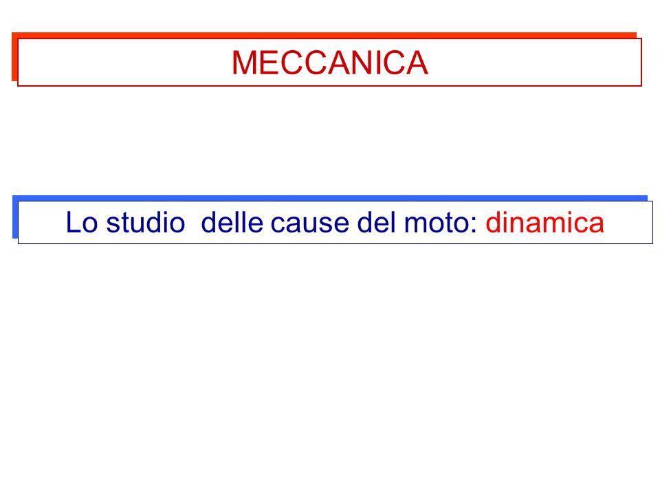 MECCANICA Lo studio delle cause del moto: dinamica