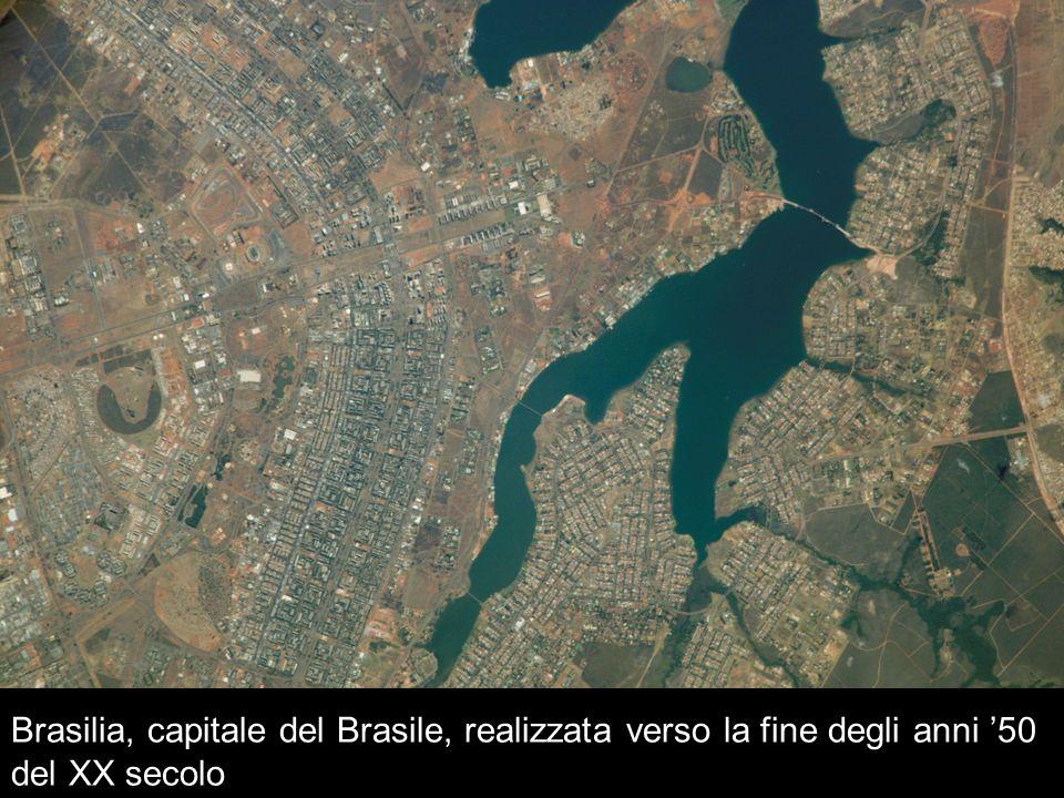 Brasilia, capitale del Brasile, realizzata verso la fine degli anni 50 del XX secolo
