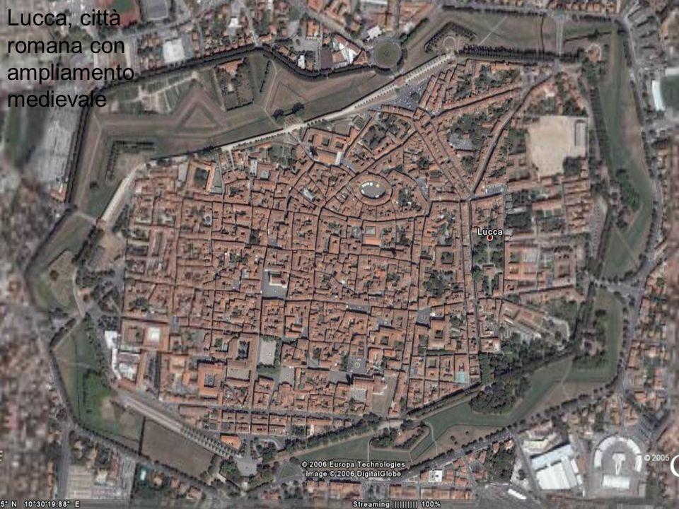 Pianta di Cittadella (Veneto), esempio di città di origine medievale con pianta regolare.