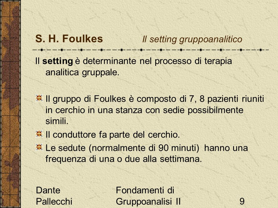 Dante Pallecchi Fondamenti di Gruppoanalisi II9 S.