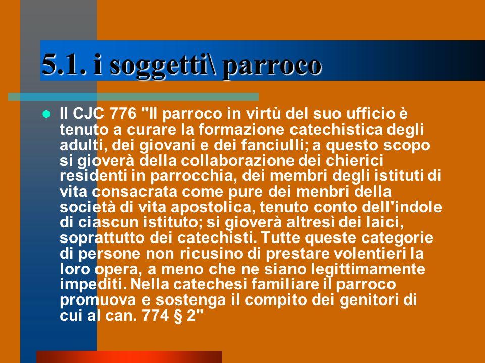 5.1. i soggetti\ parroco Il CJC 776