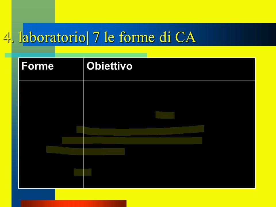 4. laboratorio| 7 le forme di CA FormeObiettivo