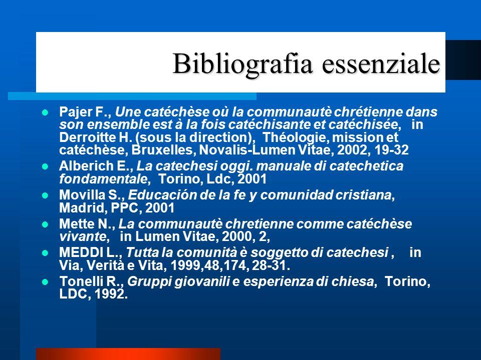 3.La chiesa luogo della catechesi 3.1. dal corso alla catechesi nella comunità –3.1.3.