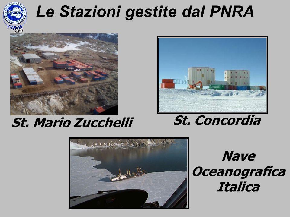 St. Mario Zucchelli St. Concordia Nave Oceanografica Italica Le Stazioni gestite dal PNRA