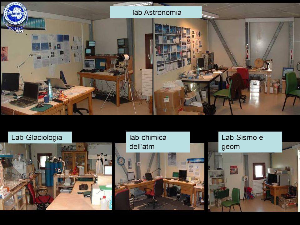 lab chimica dellatm Lab GlaciologiaLab Sismo e geom lab Astronomia