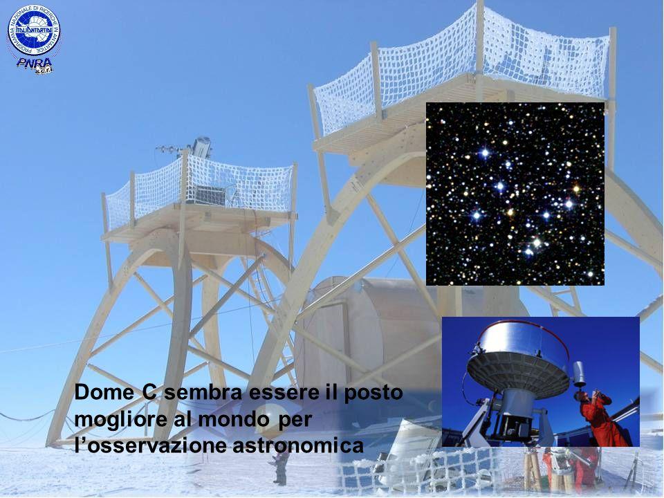 Dome C sembra essere il posto mogliore al mondo per losservazione astronomica