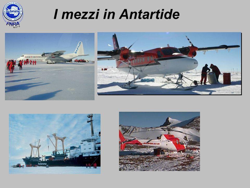 I mezzi in Antartide