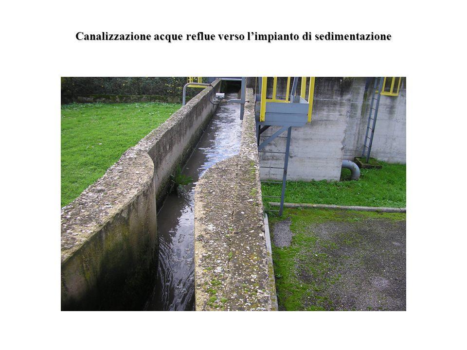 Canalizzazione acque reflue verso limpianto di sedimentazione
