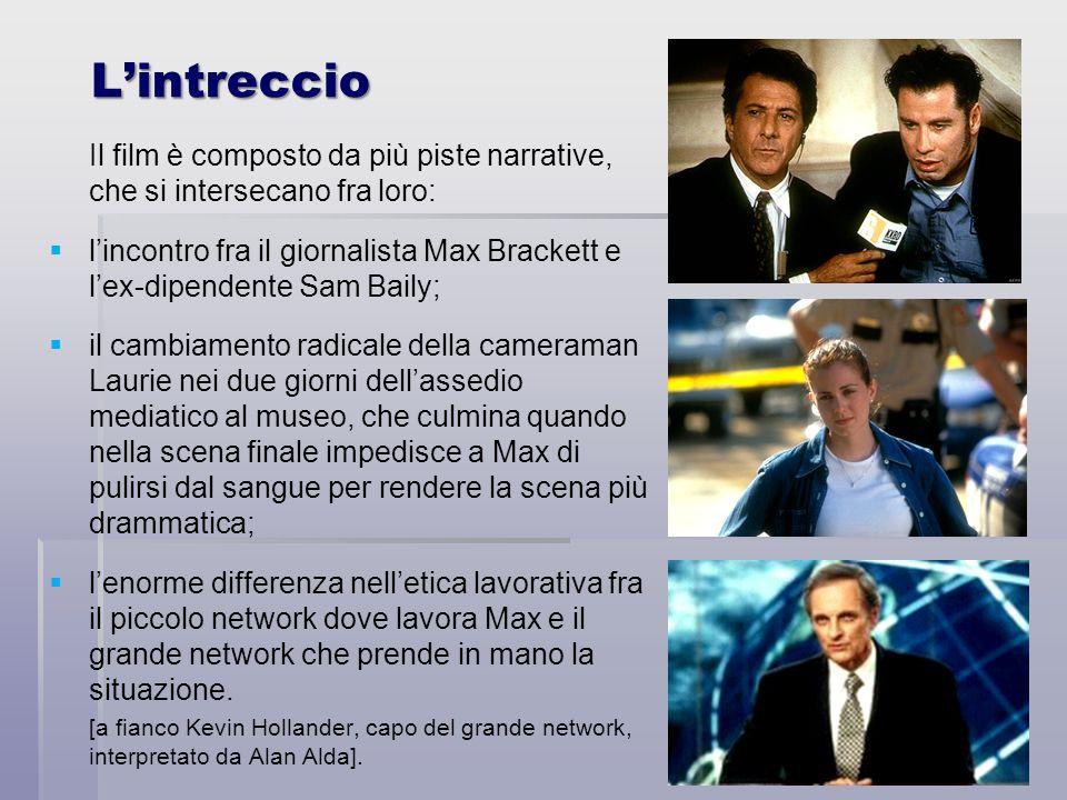 Lintreccio Il film è composto da più piste narrative, che si intersecano fra loro: lincontro fra il giornalista Max Brackett e lex-dipendente Sam Bail