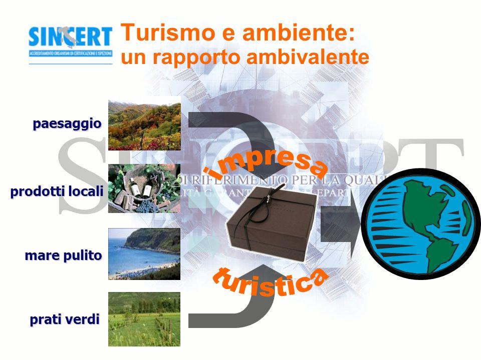 Turismo e ambiente: un rapporto ambivalente paesaggio prodotti locali mare pulito prati verdi