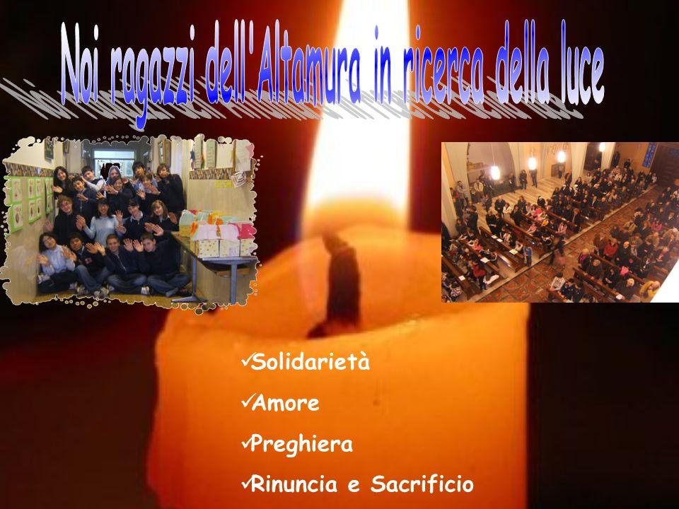Solidarietà Amore Preghiera Rinuncia e Sacrificio