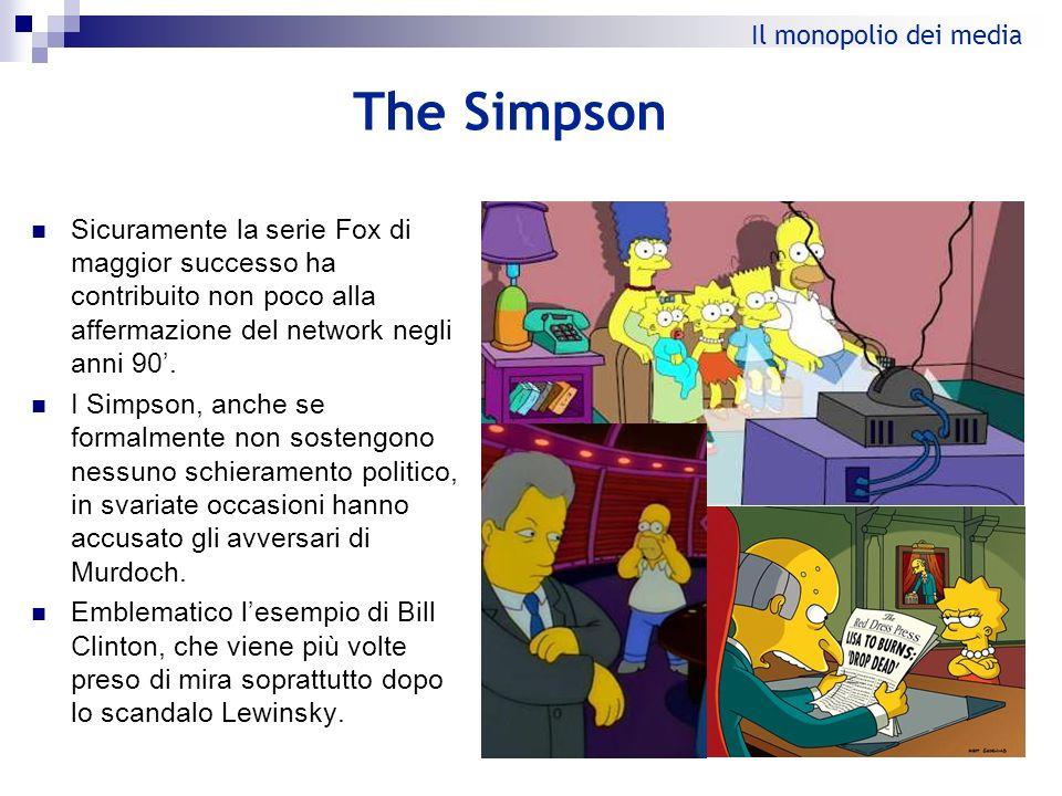 The Simpson Sicuramente la serie Fox di maggior successo ha contribuito non poco alla affermazione del network negli anni 90. I Simpson, anche se form