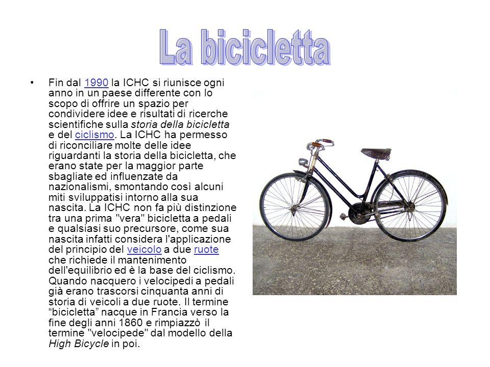 Fin dal 1990 la ICHC si riunisce ogni anno in un paese differente con lo scopo di offrire un spazio per condividere idee e risultati di ricerche scientifiche sulla storia della bicicletta e del ciclismo.
