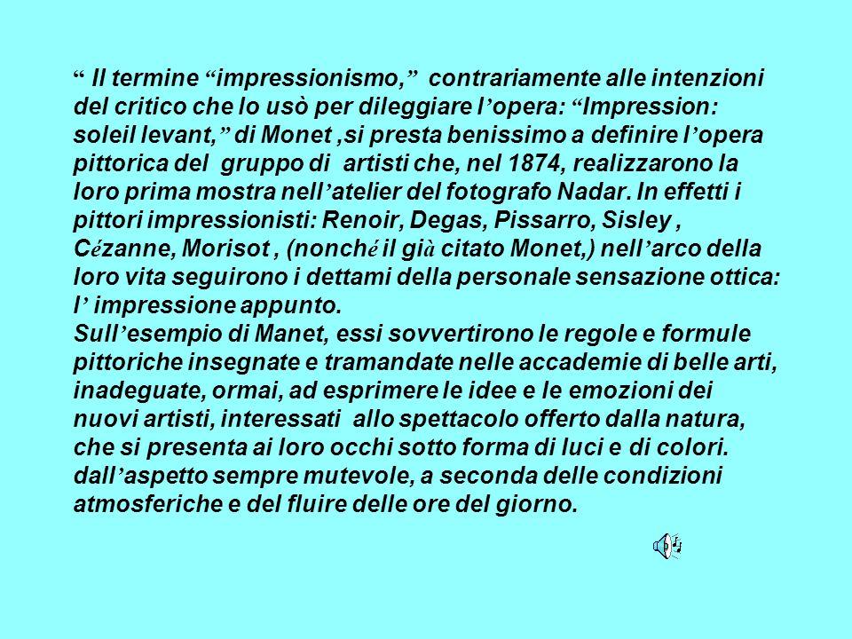 Lezione di Storia dellarte Classi terze Impressionismo e Post-Impressionismo Prof. Giacomo Rizzi