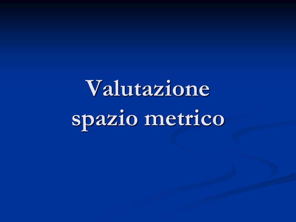 Valutazione spazio metrico