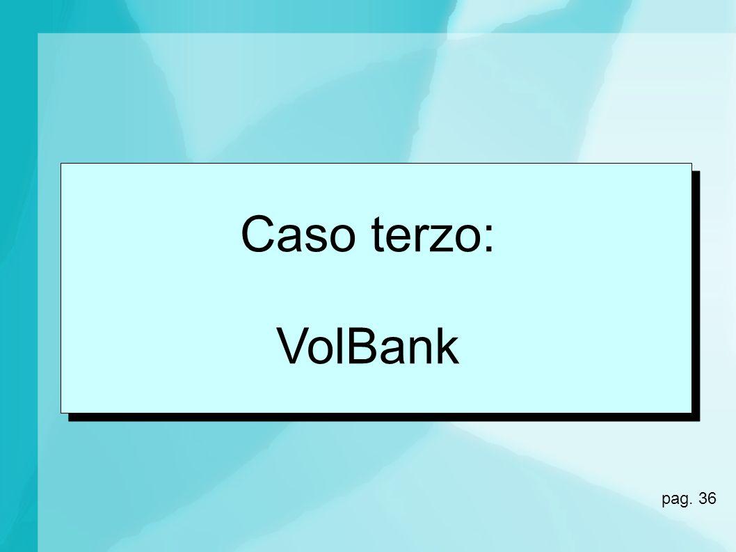 Caso terzo: VolBank pag. 36